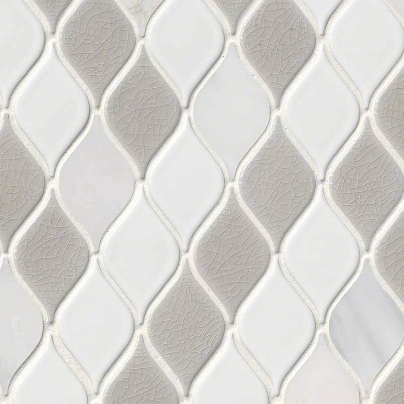 Cresta Blanco Leaf 12x12 Mosaic
