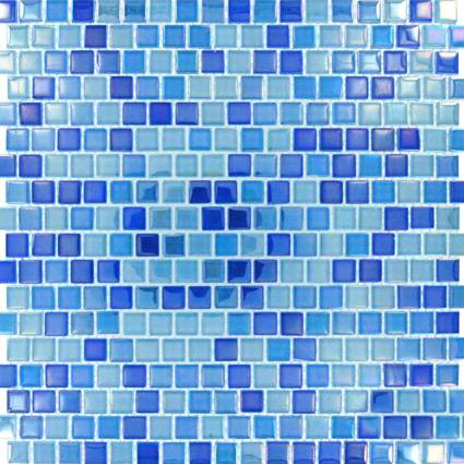 Dark Blue Blend Glass Tile