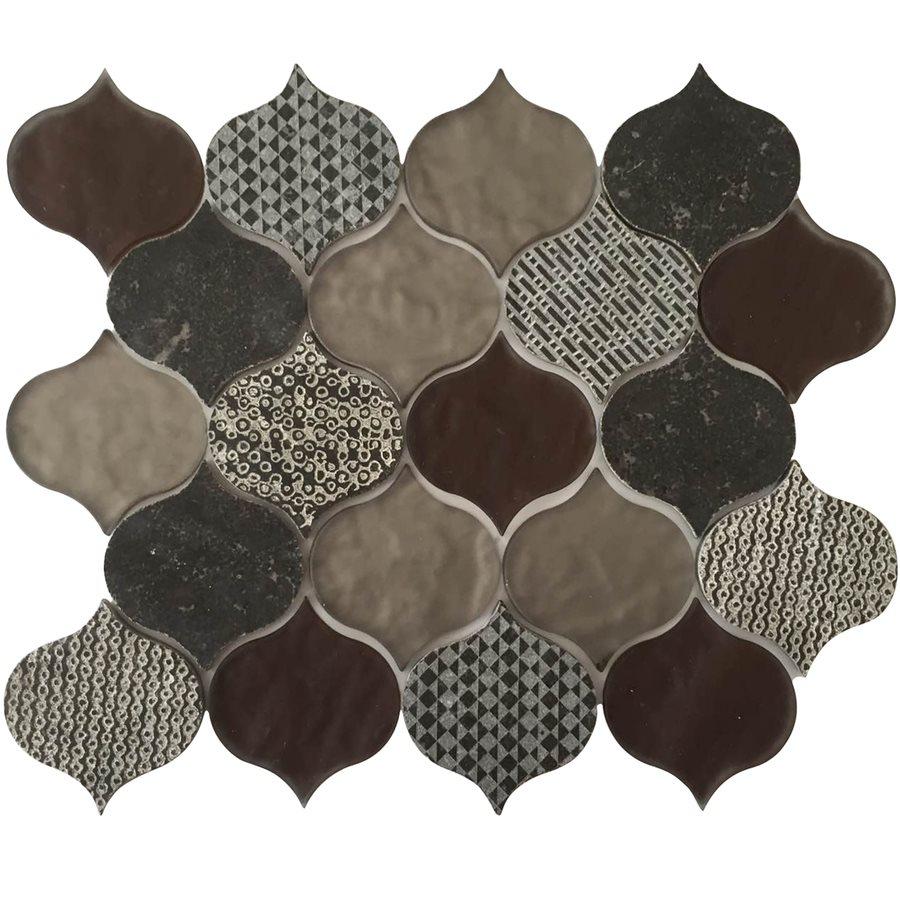 Decora Droplet 10x13 Porcelain Lantern Mosaic