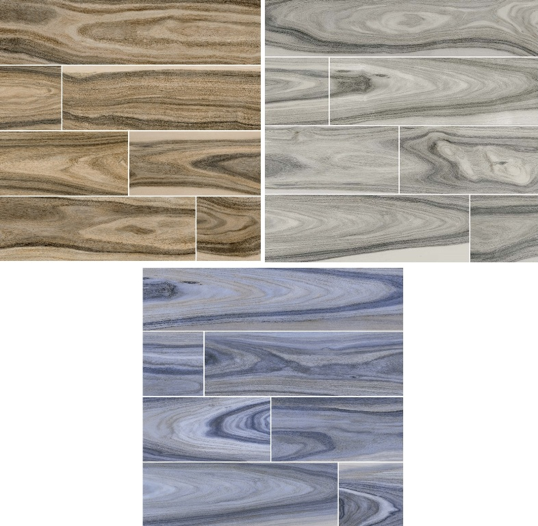 Dellano Exotic 8x48 Polished Wood Look Porcelain Tiles - Select Color