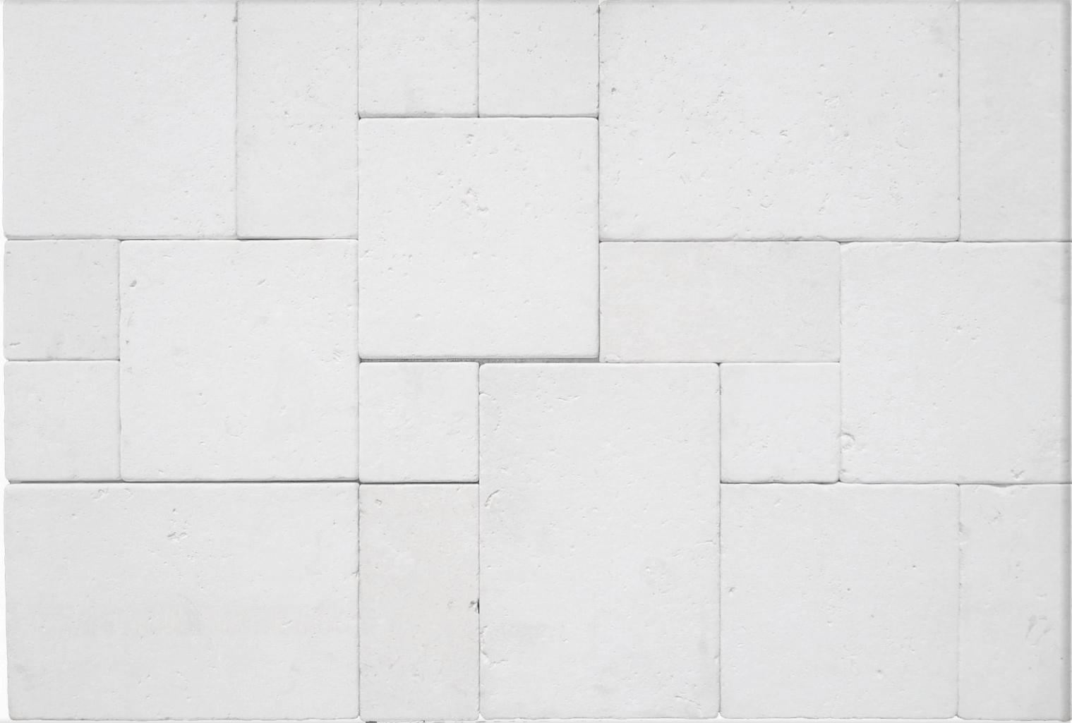 Desert White Limestone 3CM French Pattern Pavers
