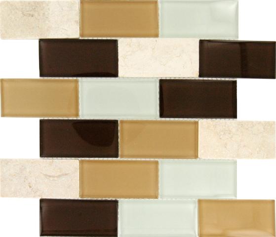 Desert Mirage 2x4x8MM Subway Mosaic