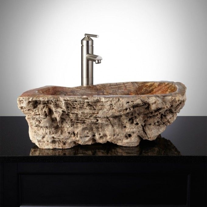 Free Shipping - Rustic Petrified Wood Sink