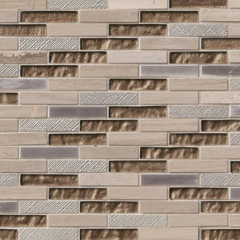 Diamante Brick 12x12 Interlocking 8mm Mosaic