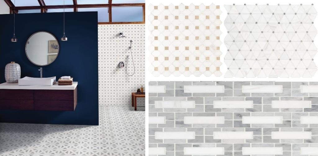 Bianco Dolomite Polished Mosaic - Collection