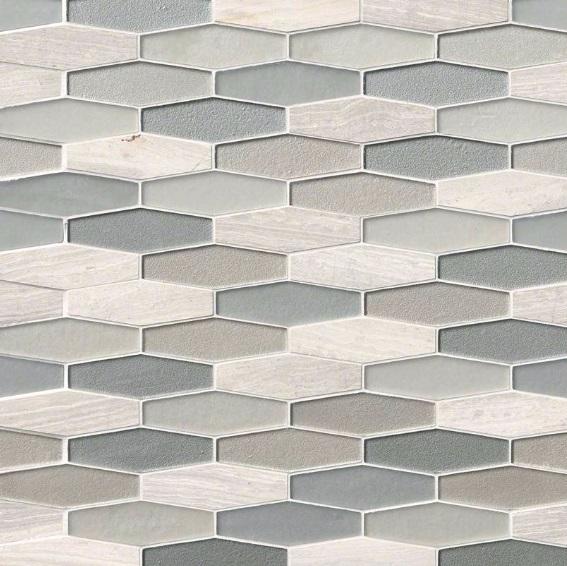 Europa Elongated 8mm Hexagon Mosaic