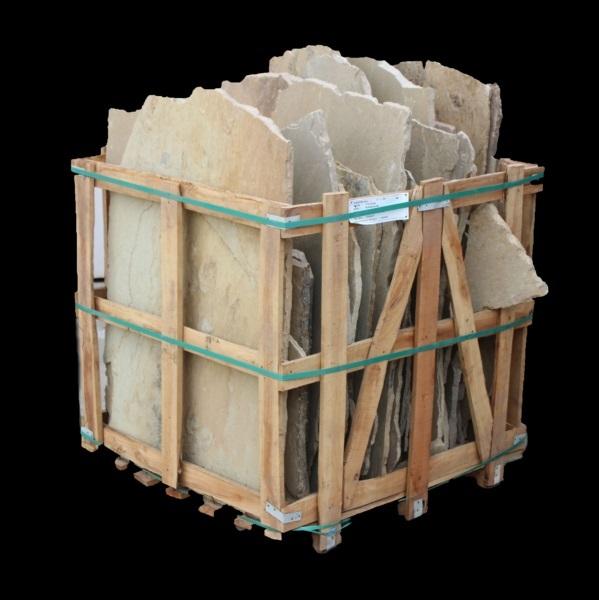 Random Natural Stone Flagstone - FOSSIL SANDSTONE