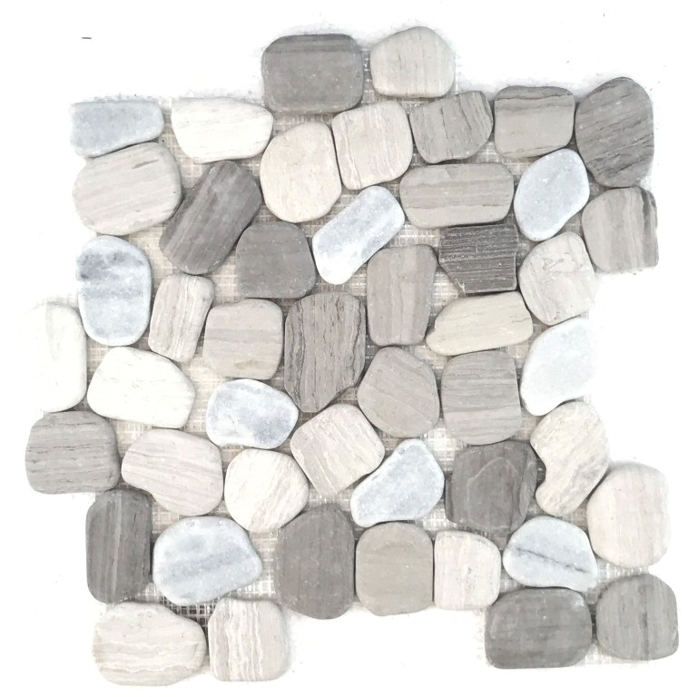FREE SHIPPING - Athens Gray Blend 12x12 Pebble