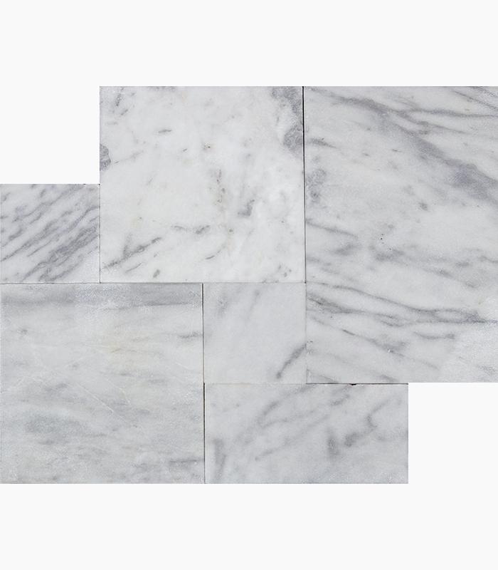 Carrara White French Pattern 3cm Pavers