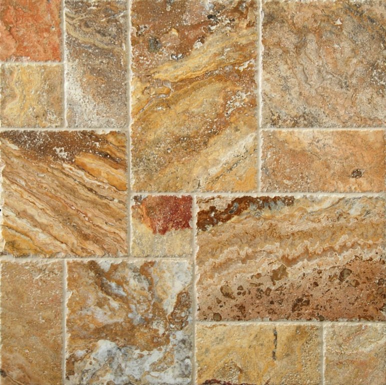 Scabos 16 Sqft/Box French Pattern Tumbled