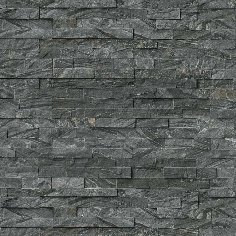 Glacial Black 6x24 Ledger Panel Split Face