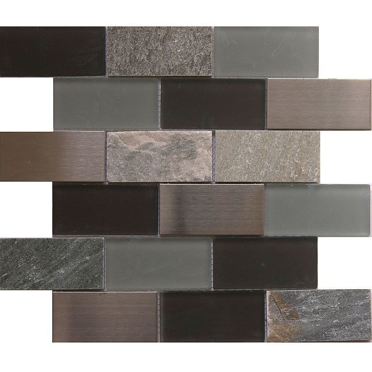Alaska Gray 12x12 Brick Blend