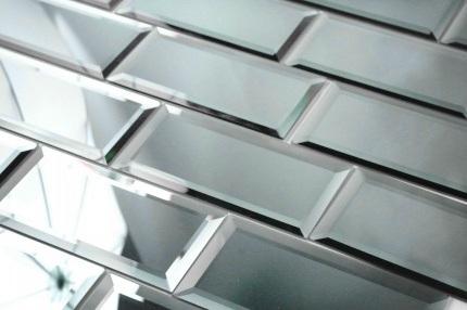 Buy Reflections Graphite 3 X 6 Mirror Glass Subway Tile Wallandtile Com