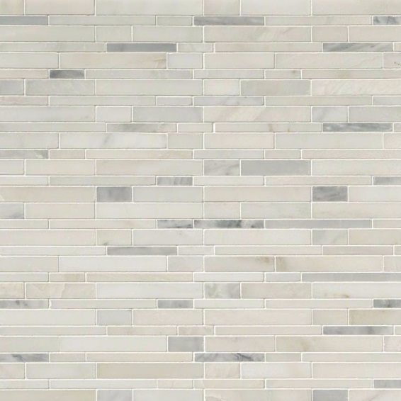Greecian White Maze Interlocking 12x12 Mosaic