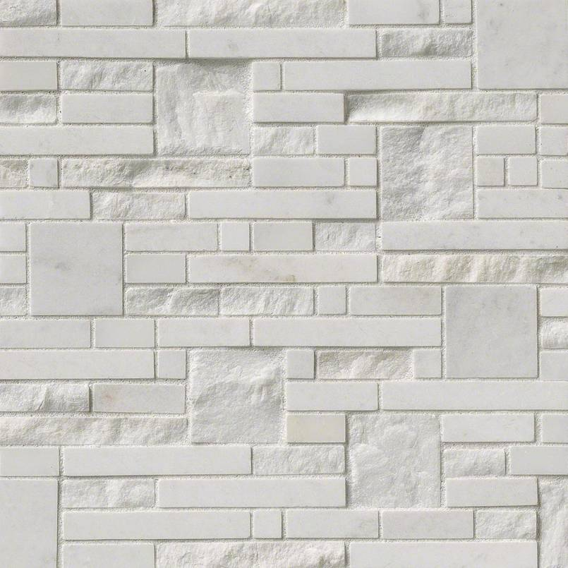 Greecian White Opus 12x12 Marble Mosaic