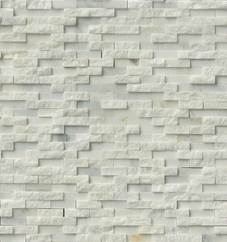 Greecian White 12x12 Split Face