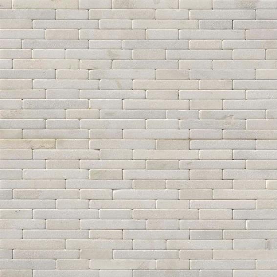 Greecian White 8x18 Tumbled Mosaic