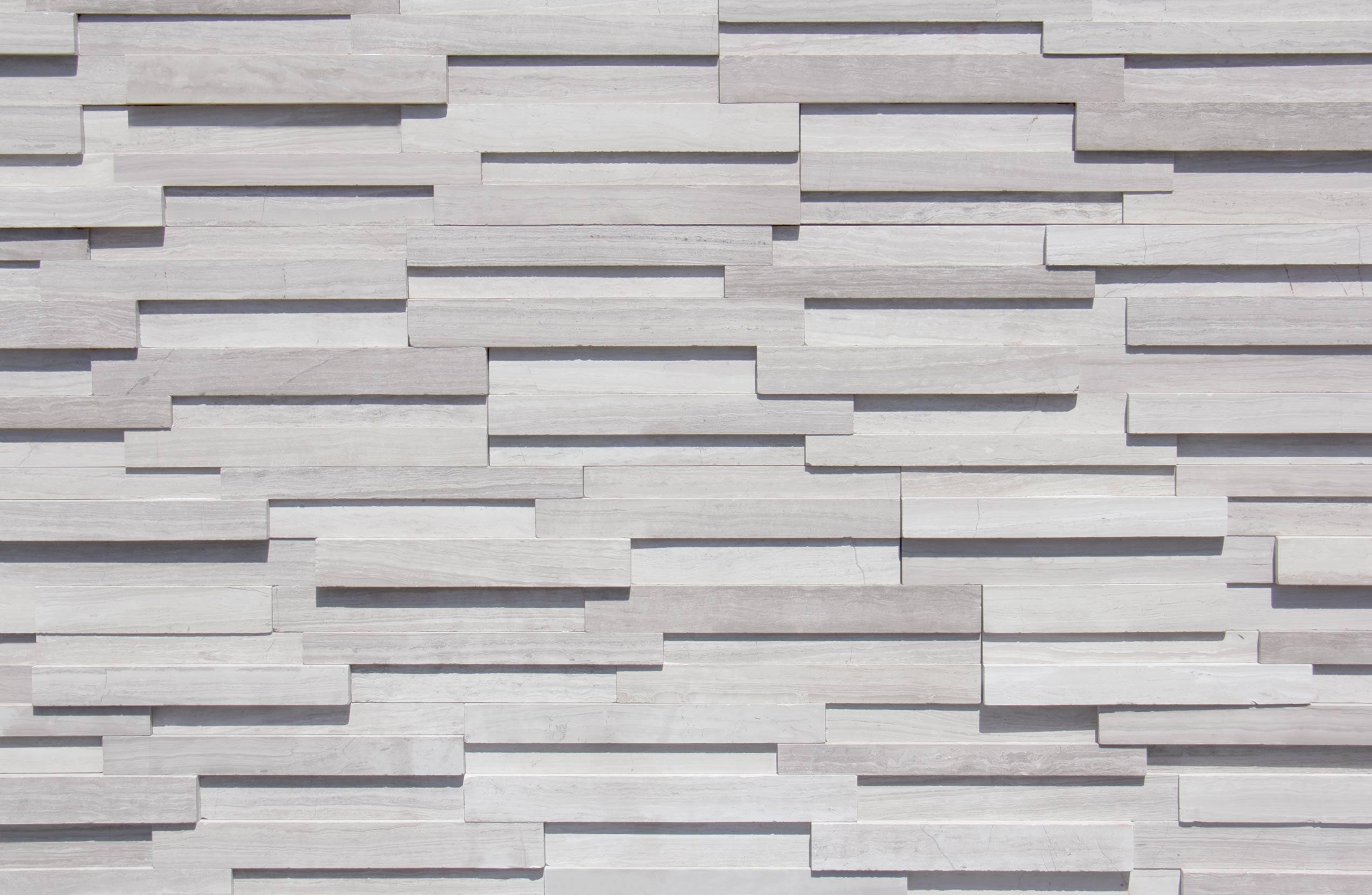 White Oak 3D Ledger 6x24 Panel
