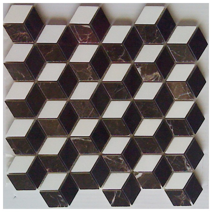 Illusion 3D Mosaic Interlocking Polished