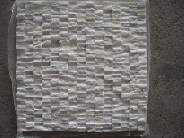 FREE SHIPPING - Carrara White 12x12 Split face