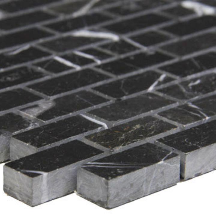 Nero Marquina Brick Mosaic