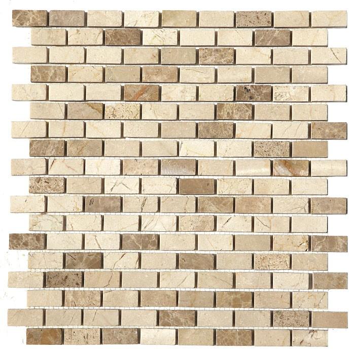 FREE SHIPPING - Crema Mocha Brick Interlocking Polished