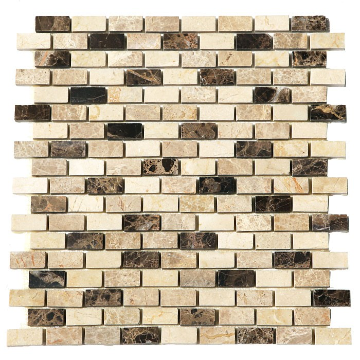 Crema Mocha Blend 12X12 Interlocking Polished