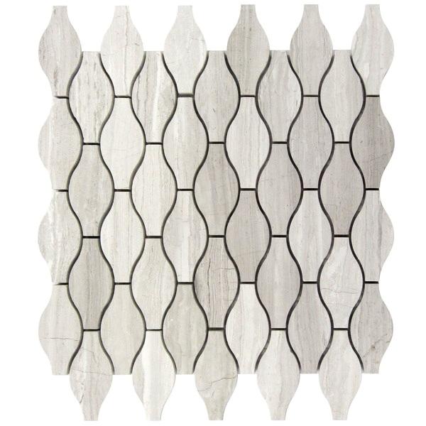 White Oak Truffle 12x12 Mosaic