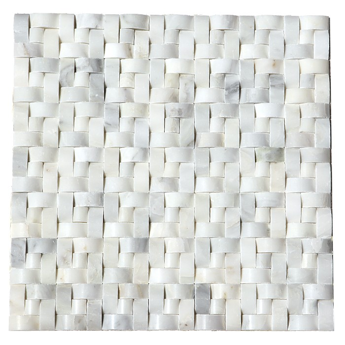 Arabescato Carrara 12X12 Interwoven Polished