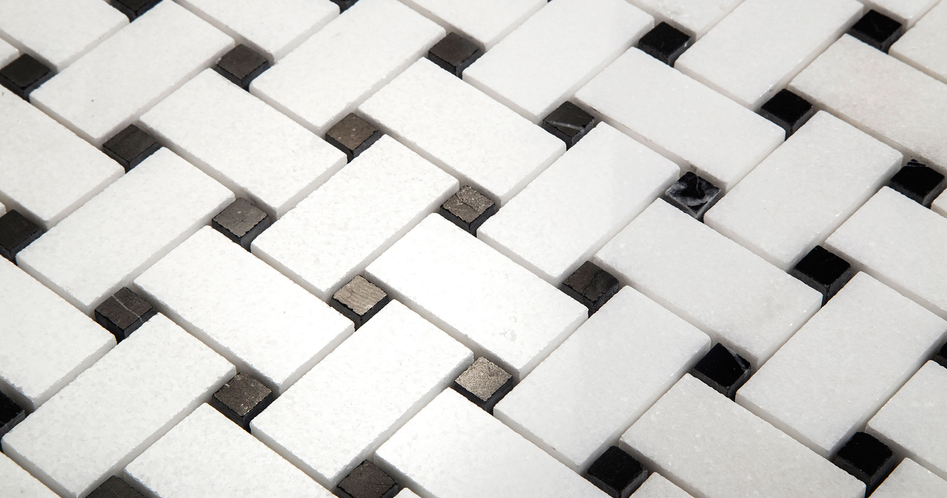 Statuary White Basketweave Mosaic
