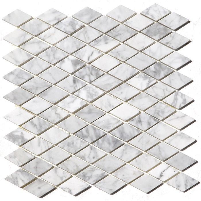 Arabescato Carrara 12X12 Rhomboid Polished