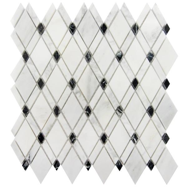 Carrara Blended Rhomboid Mosaic