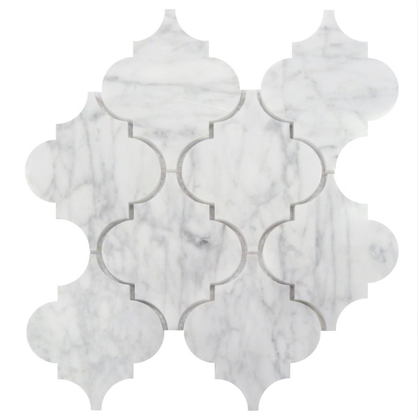 Arabescato Carrara 12x12 Arabesque Interlocking Honed