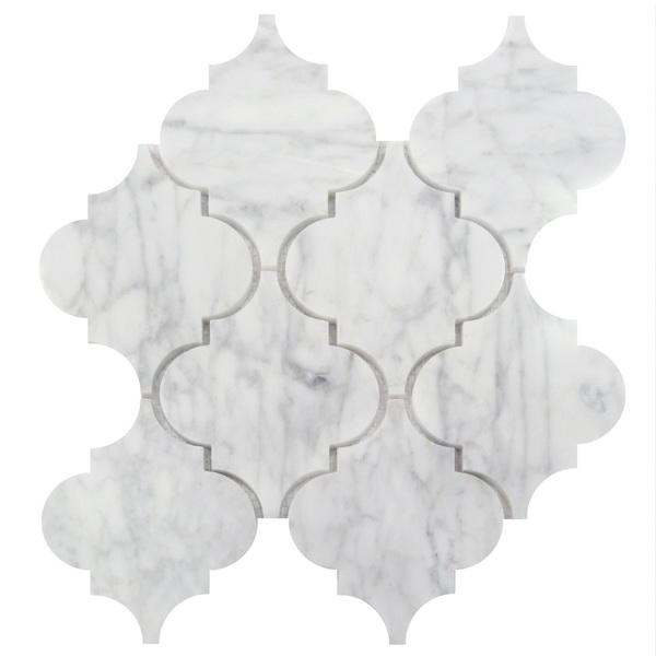 Arabescato Carrara 12x12 Arabesque Interlocking Polished