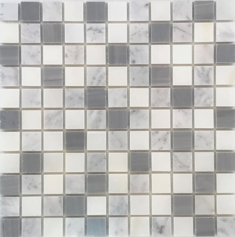 Bardiglio Scuro Mix 1X1 Mosaic Tile