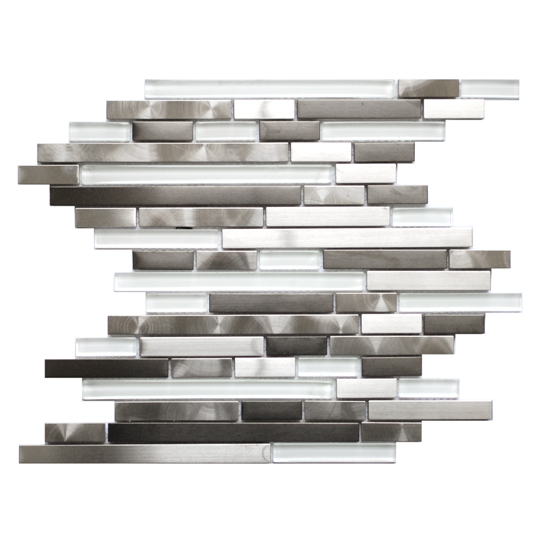 FREE SHIPPING Newport Stainless 12x12 Interlocking Mosaic