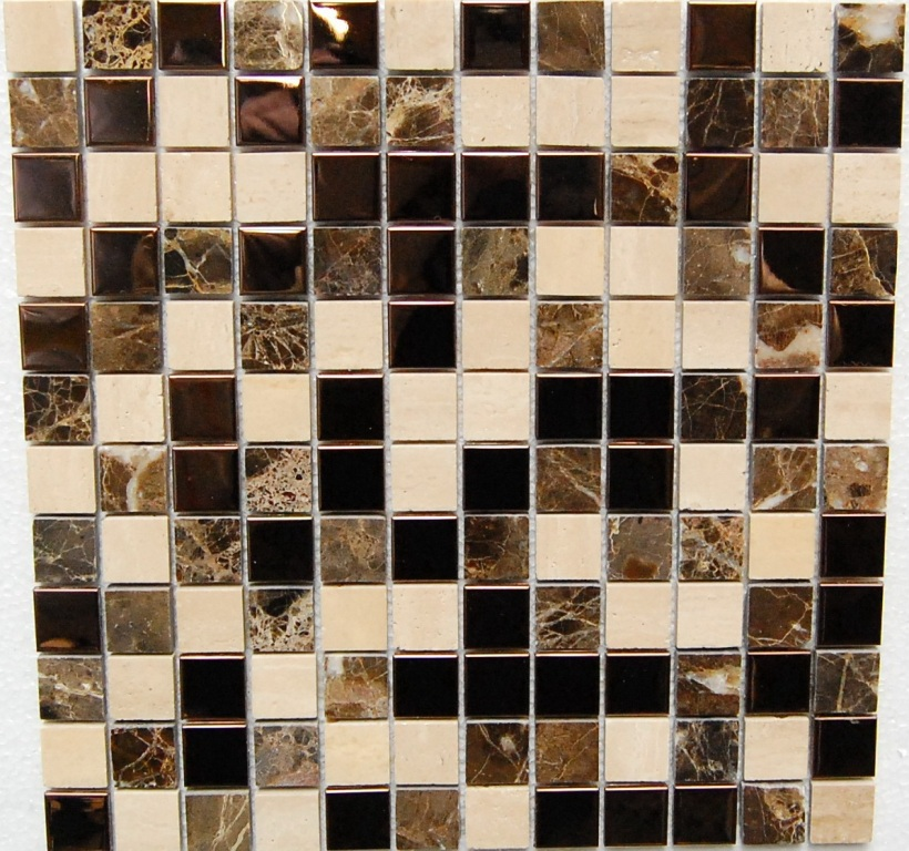 Starlite Bronze 12x12 Metal Mosaic