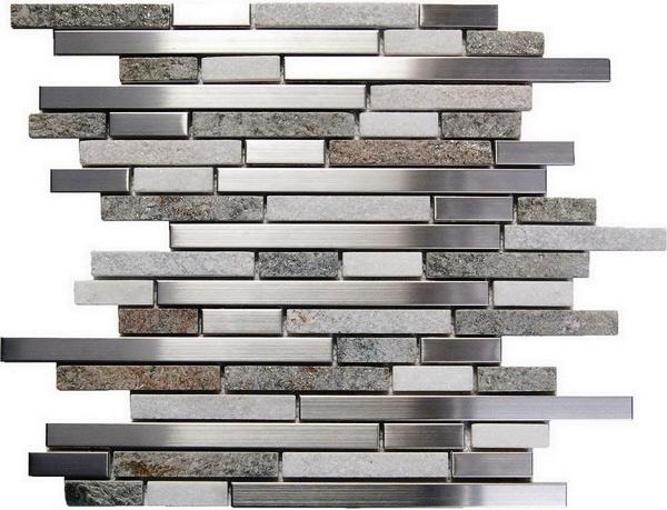 FREE SHIPPING - Odyssey Tundra 12X12 Metal Mosaic