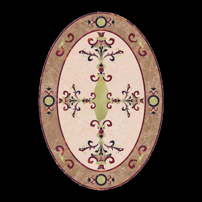 Hermes Oval Stone Medallion
