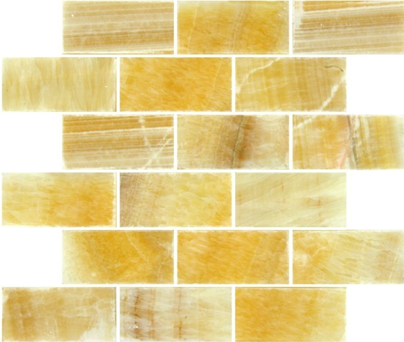 Buy 2x4x8mm Honey Onyx Subway Mosaic Wallandtile Com