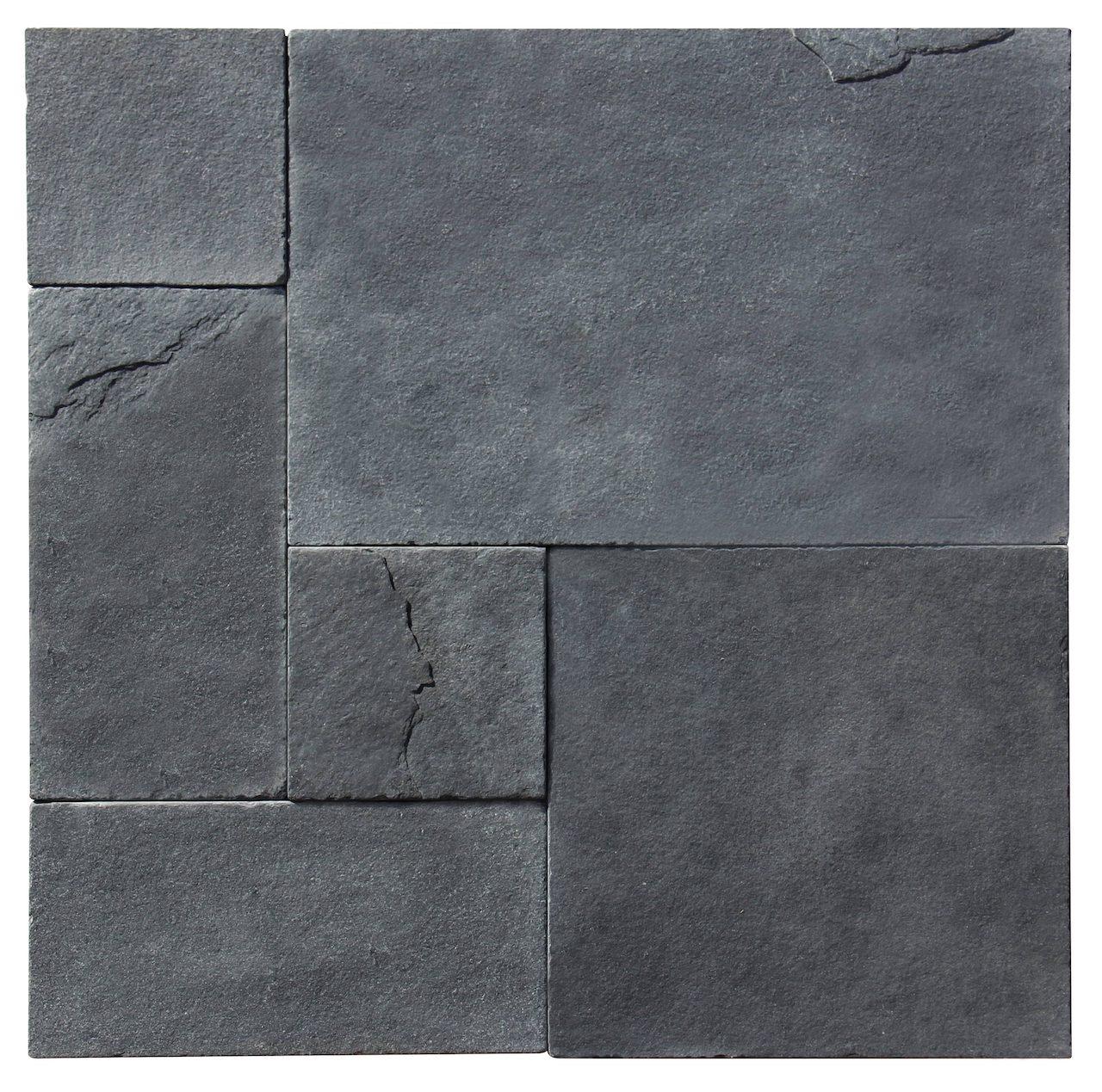 Lime Black Limestone 3CM French Pattern Pavers