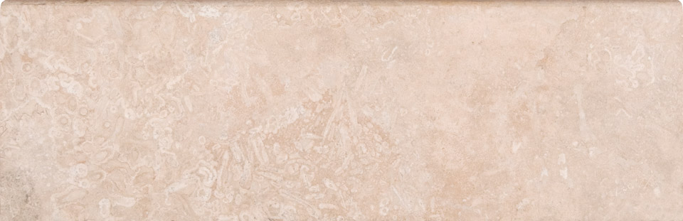 Ivory Travertine 4X12 Base Board Honed