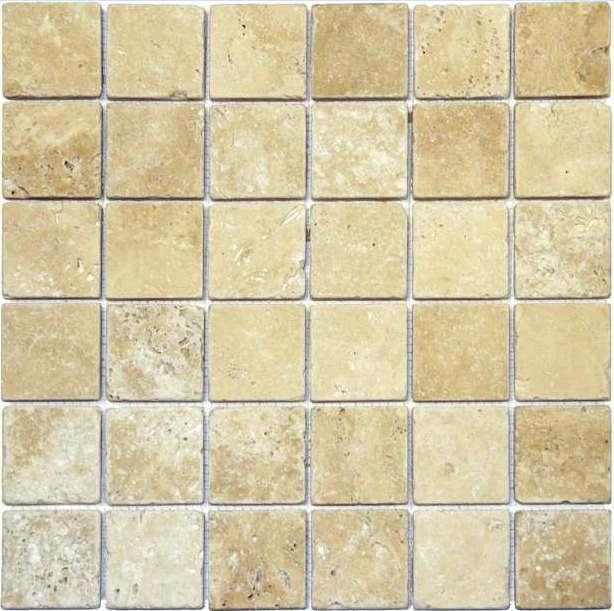 Ivory Travertine 2x2 Honed Mosaic