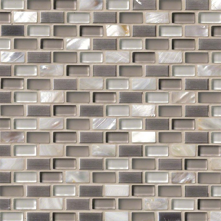 Keshi Interlocking 12x12x8mm Glass Mosaic