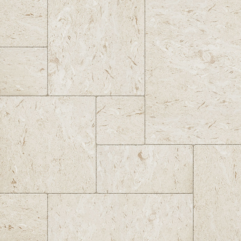 Fossil Limestone 3cm French Pattern Pavers