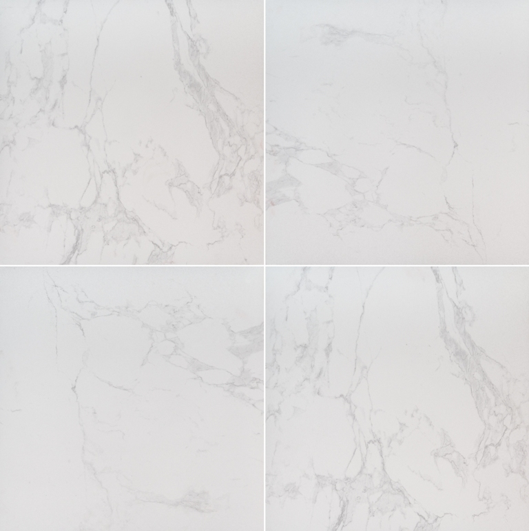 Praia Carrara White 24x24 Porcelain Pavers