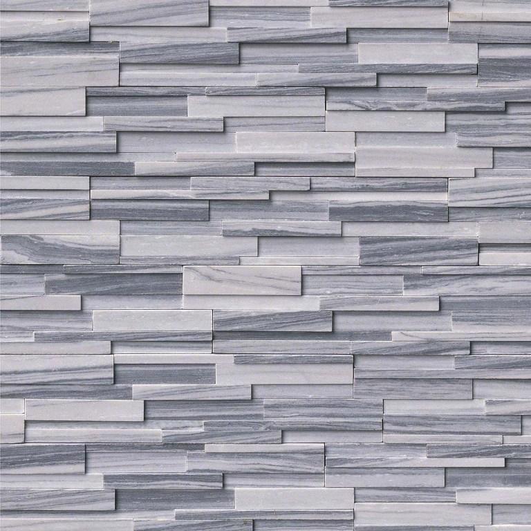 Alaska Gray 3D Honed 6x24 Ledger
