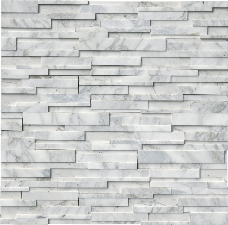 Calacatta Cressa 3D Honed 6x24 Ledger Panel