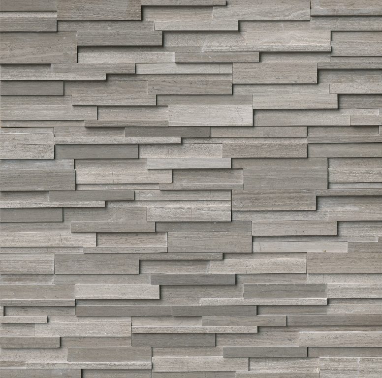 Gray Oak Honed 3D 6x24 Ledger Panel