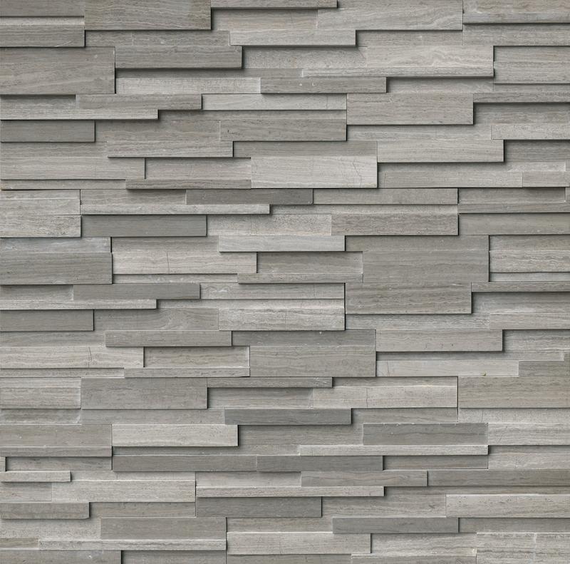 Gray Oak Honed 3D 6x24 Ledger Panel